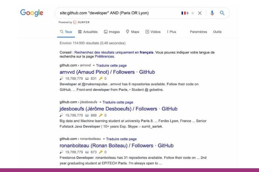 Operateur booleen Google